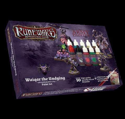 Runewars Miniatures Game Waiqar Undying paint set