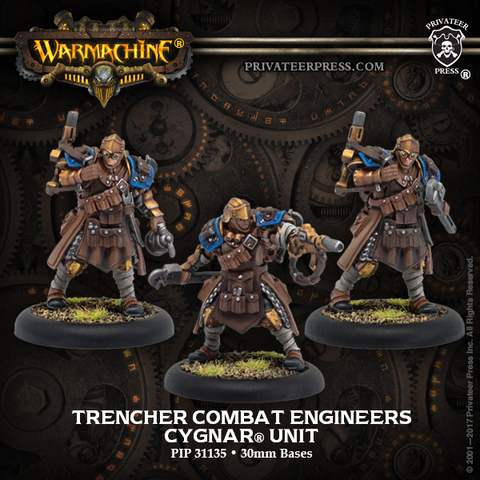 Trencher Combat Engineers – Cygnar Unit (resin/metal)