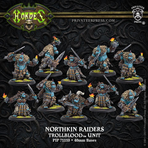 Northkin Raiders– Trollblood Unit Attachment (resin/metal)