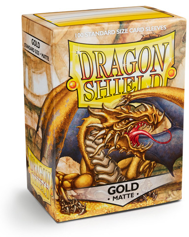Dragon Shield Matte - Gold (100)