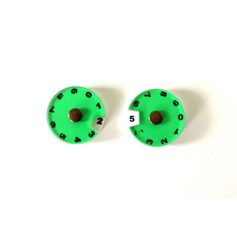 2 Simple Dials - Green